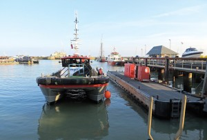 As part of a mitigation package, energy developers agreed to install fast-flow pumps at the Thanet Fishermen's Association's fuel co-op dock and then purchase fuel from the co-op for its service vessels. (Lorelei Stevens photo)