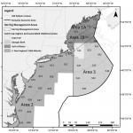 Atlantic herring midwater and bottom trawl fishing would be allowed to continue in the offshore statistical areas of the Southern New England/Mid-Atlantic area (blank areas on chart) after the river herring/shad catch cap is reached  triggering an area closure.
