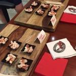 Above, a hard-shell vs. new shell taste test for chefs. (MLMC photo)