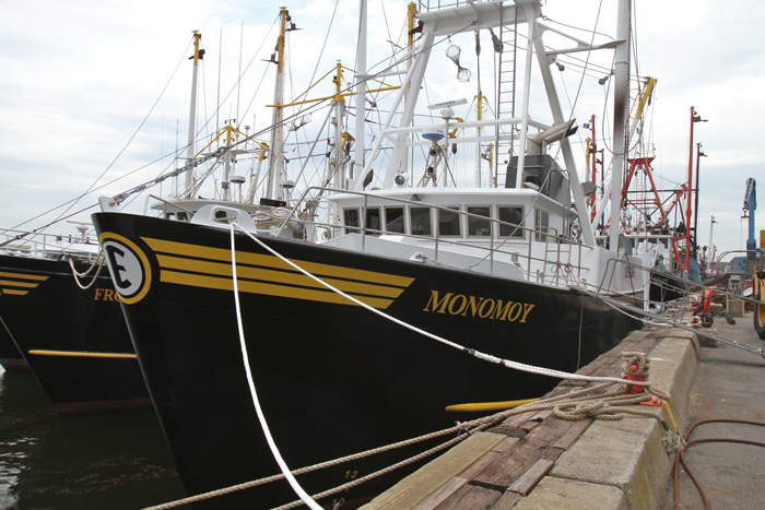 At 101' Monomoy is the biggest scalloper in the large Eastern/Nordic Fisheries/O'Hara fleet. (Steven Kennedy photo)